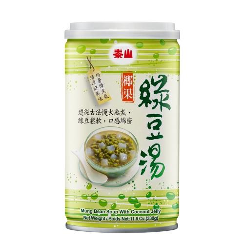 泰山 椰果綠豆湯