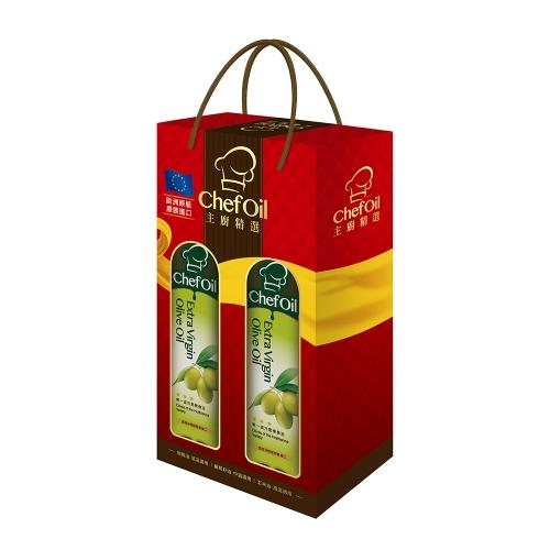 泰山 主廚精選ChefOil第一道冷壓橄欖油 禮盒 (3組)