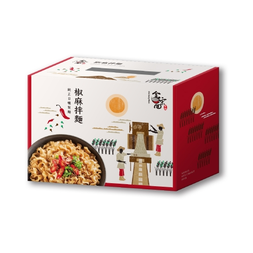 金宋麵 川香椒麻拌麵 6包/盒 (共6盒)